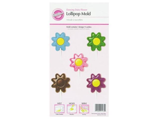 Wilton DANCING DAISY LOLLIPOP MOLD Flower Candy Melt