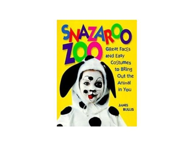 Snazaroo Zoo ANIMAL FACE PAINT & COSTUME BOOK Halloween 90 PAGE BOOK-Kid
