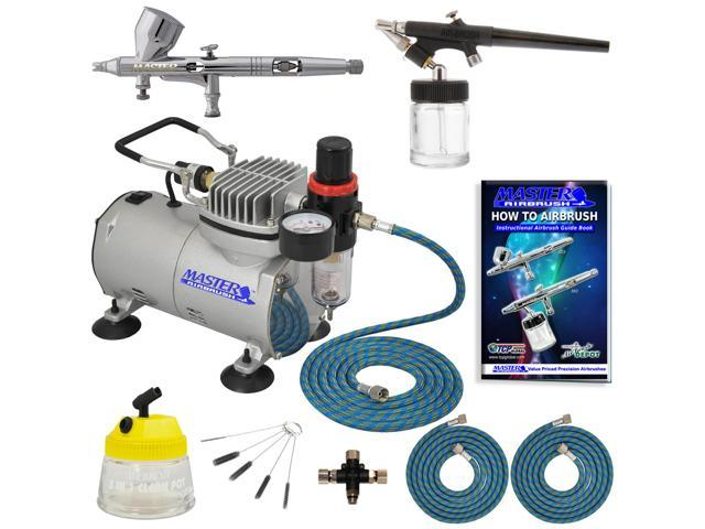 Pro 0.2mm Fine Detail Control Airbrush Kit Compressor Set Auto Paint Graphics