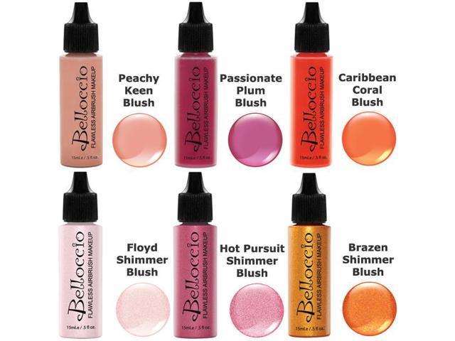 Makeup Ideas belloccio airbrush makeup review : Belloccio Airbrush Makeup 6 Color BLUSH SHIMMER SHADES SET