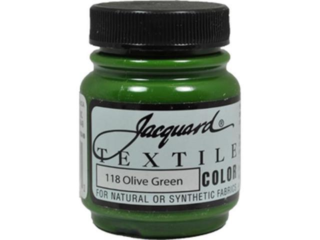 Jacquard Textile Color #118 OLIVE GREEN 2.25oz Fabric Ink Airbrush Spray Paint