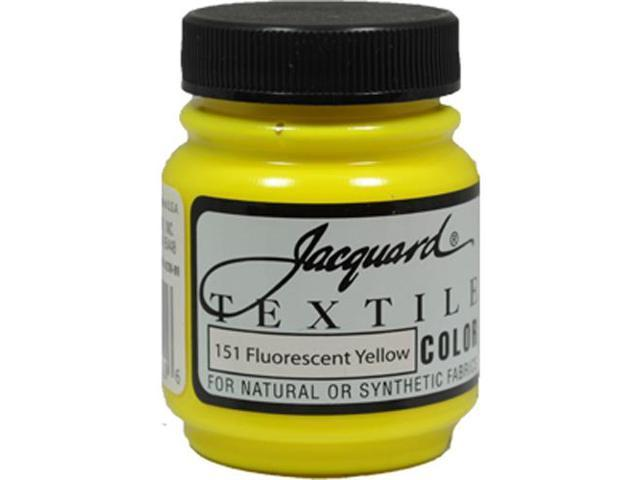 Jacquard Textile Color #151 FLUORESCENT YELLOW 2.25oz Fabric Ink Airbrush Paint