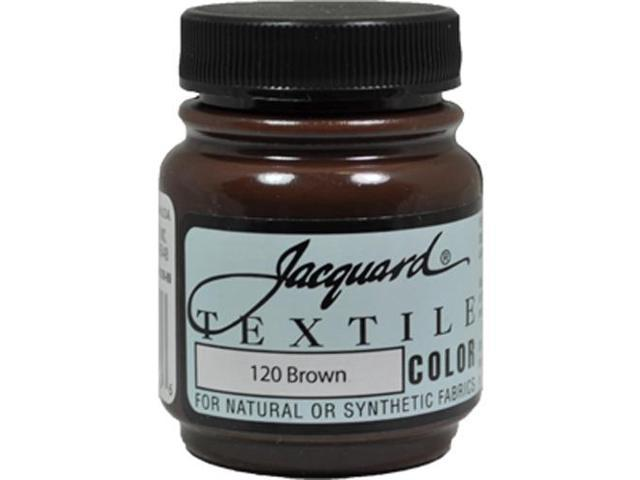 Jacquard Textile Color #120 BROWN 2.25oz Lightfast Fabric Ink Airbrush Paint