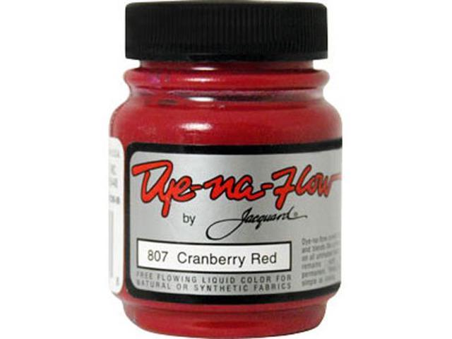 Jacquard Dye-Na-Flow Color #807 CRANBERRY RED Tye Dye Silk Paint Airbrush Ink