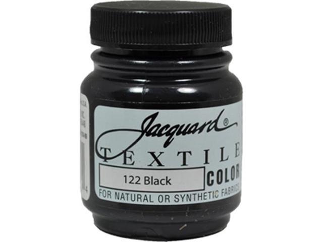Jacquard Textile Color #122 BLACK 2.25oz Lightfast Fabric Ink Airbrush Paint