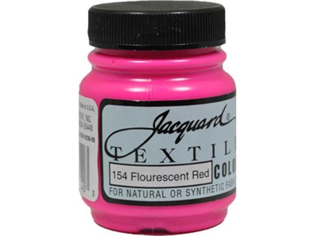 Jacquard Textile Color #154 FLUORESCENT RED 2.25oz Fabric Ink Airbrush Paint