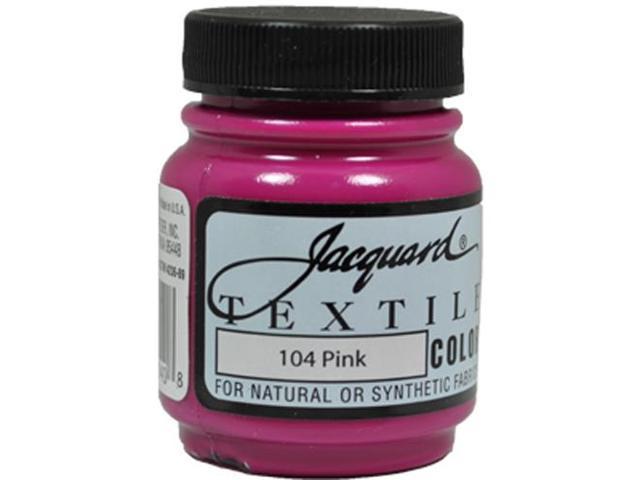 Jacquard Textile Color #104 PINK 2.25oz Colorfast Fabric Garment Airbrush Paint