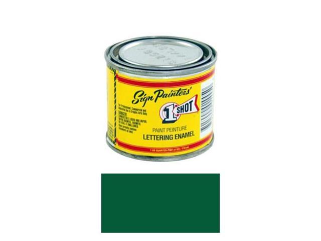 1/4 Pint 1 Shot MEDIUM GREEN Paint Lettering Enamel Pinstriping & Graphic Art