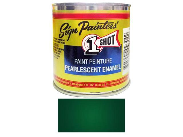 1/2 Pint 1 Shot PEARLESCENT DARK GREEN Paint Lettering Enamel for Pinstriping