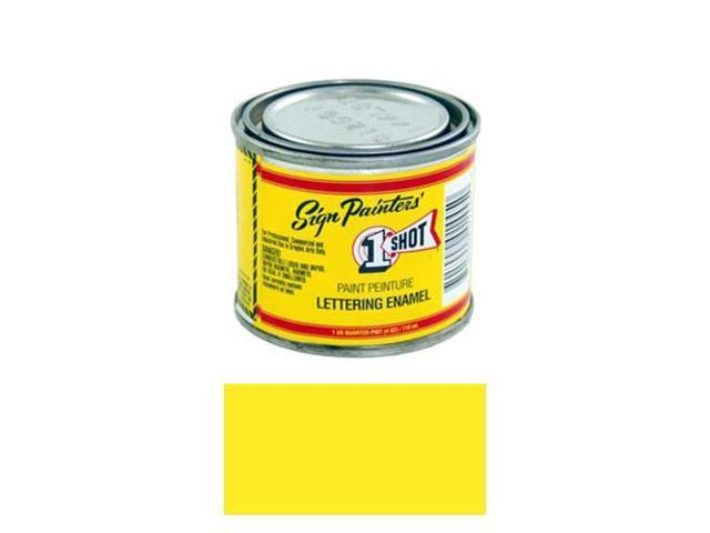 1/4 Pint 1 Shot PRIMROSE YELLOW Paint Lettering Enamel Pinstriping & Graphic Art