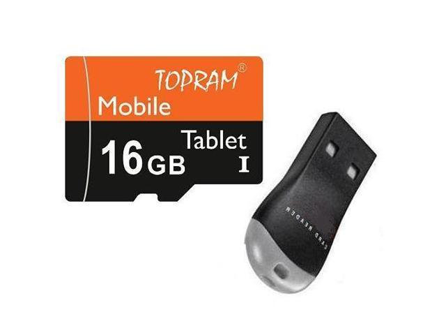 TOPRAM 16GB 16G microSD microSDHC micro SD SDHC Card Class 10 Ultra High Speed UHS-I for Mobile & Tablet USB