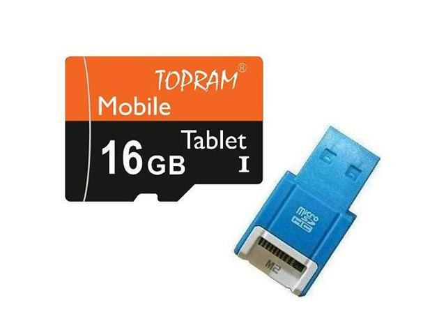TOPRAM 16GB 16G microSD microSDHC micro SD SDHC Card Class 10 Ultra High Speed UHS-I for Mobile & Tablet R10B