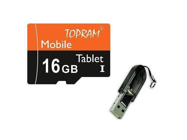 TOPRAM 16GB 16G microSD microSDHC micro SD SDHC Card Class 10 Ultra High Speed UHS-I for Mobile & Tablet R13
