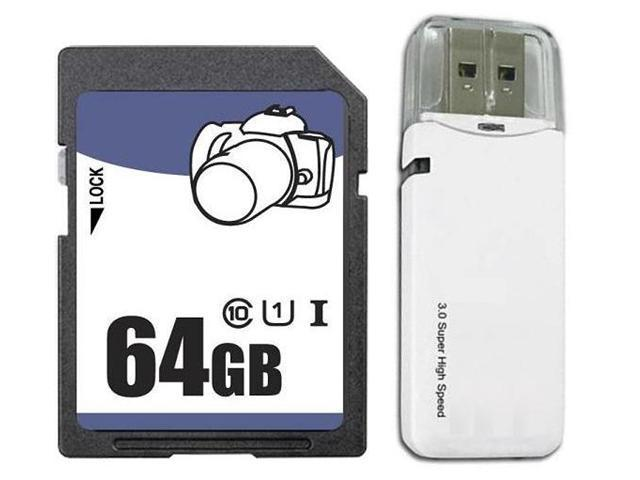 OEM 64GB SD SDHC 64GB SDXC Card Class 10 Ultra High Speed UHS-I for Camera & Camcorder with USB 3.0 Card Reader