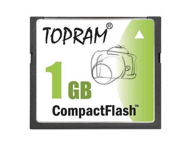 TOPRAM 1GB 1G CF CompactFlash Card Compact Flash SLC Flash - Bulk