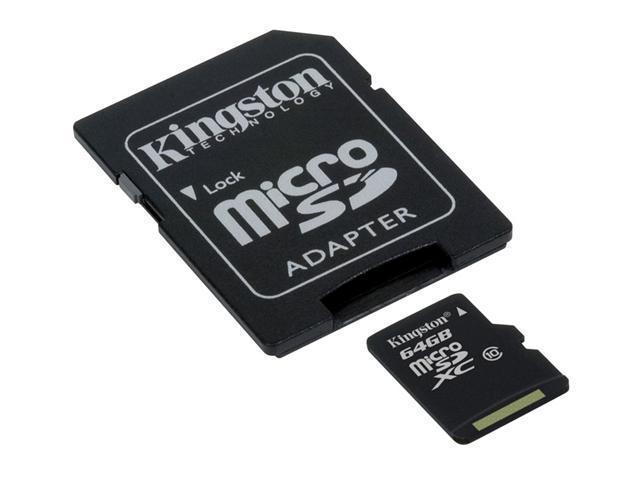 Kingston 64GB microSD microSDXC 64G microSDHC Class 10 Card with oem USB 2.0 Reader