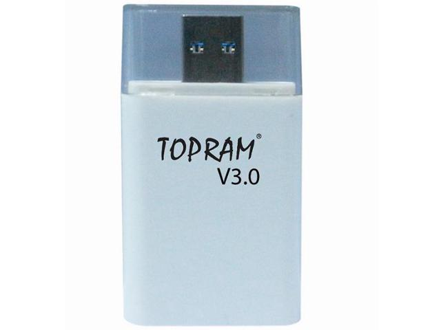 TOPRAM RV36 USB 3.0 Ultra Speed Dual Slot Card Reader support Samsung Kingston SanDisk up to 128GB micro SD SDHC SDXC microSD microSDHC microSDXC TF