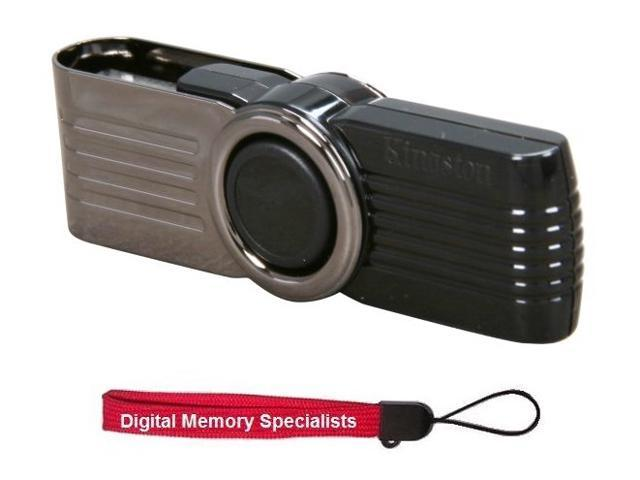 Kingston 16GB DataTraveler 101 G2 16G USB 2.0 Flash Drive (Black) Model DT101G2 +Lanyard