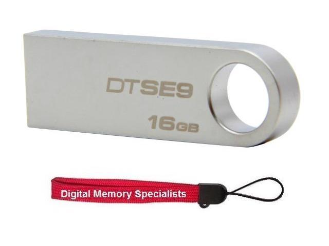 Kingston DataTraveler SE9 16GB USB 2.0 Flash Drive Model DTSE9H/16GBZ +Lanyard