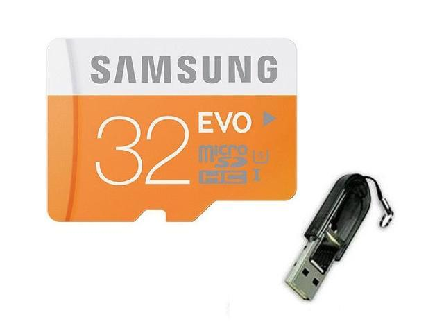 Samsung EVO 32GB 32G microSDHC micro SD SDHC 48MB/s UHS-I microSD Class 10 with USB 2.0 Card Reader