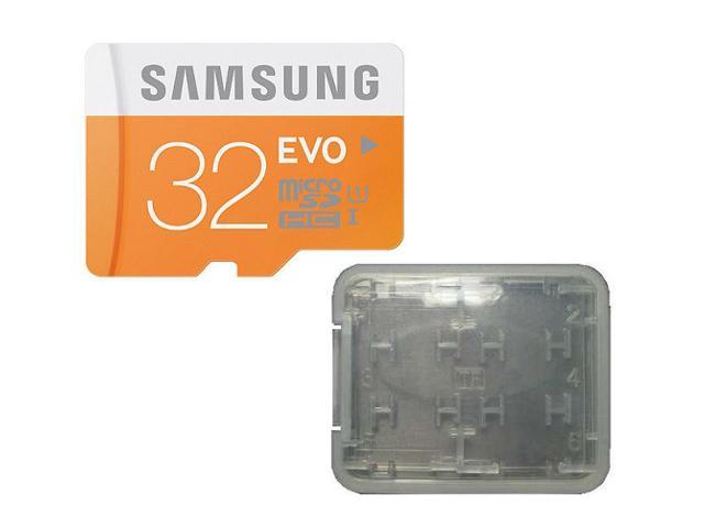 Samsung EVO 32GB 32G microSDHC micro SD SDHC 48MB/s UHS-I microSD Class 10 with Multifunction Memory Card Protective Case