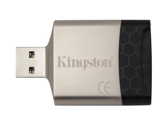 Kingston FCR-MLG4 MobileLite G4 USB 3.0 Card Reader fit microSD microSDHC microSDXC micro SD SDHC SDXC 16GB 32GB 64GB 128GB with USB Lanyard