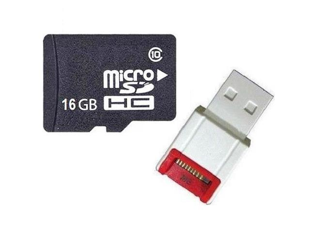 OEM 16GB 16G microSD microSDHC SD SDHC Card Class 10 with R10w Card Reader