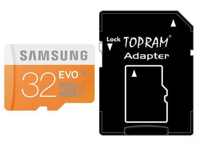 Samsung EVO 32GB 32G microSDHC micro SD SDHC 48MB/s UHS-I microSD Class 10 with OEM SD Adapter
