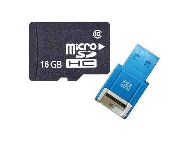 OEM 16GB 16G microSD microSDHC SD SDHC Card Class 10 with R10b Card Reader