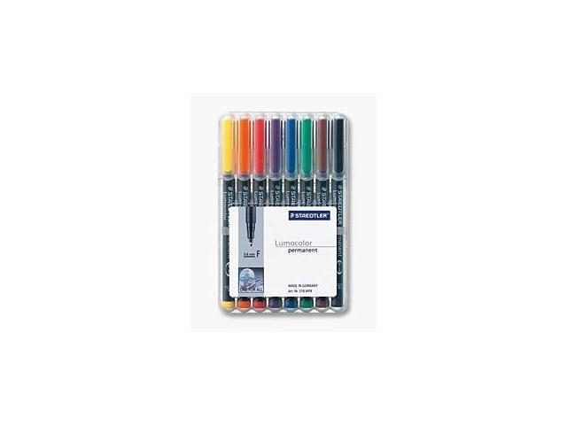 Lumocolor Permanent Superfine Marker 0.4mm - 8 Color Set