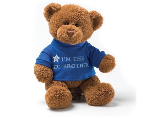 "Gund I'm The Big Brother Message 12"" Bear Plush"