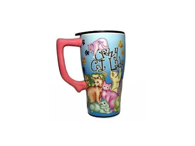 Crazy CAT Lady Ceramic Coffee Tea Travel Mug