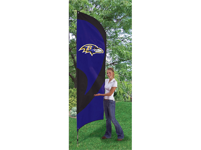 Baltimore Ravens 8' Tall Tailgate Flag