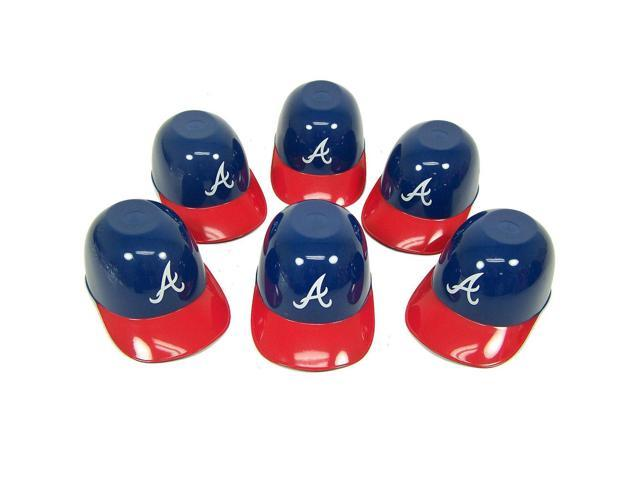 Atlanta Braves Official MLB 8oz Mini Baseball Helmet Ice Cream Snack Bowls (6) by Rawlings