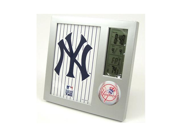 New York Yankees Official MLB 4 inch  x 6 inch  Desk Clock by Wincraft