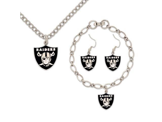 Oakland Raiders Official NFL Various Jewelry Gift Set by Wincraft