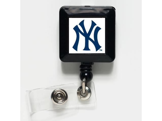 New York Yankees Official MLB 1 inch  x 1 inch  Retractable Badge Holder Key Chain Keychain by Wincraft