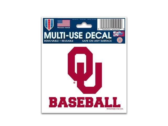 Oklahoma Sooners Official NCAA 4.5 inch  x 6 inch  decal by Wincraft