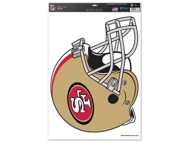 San Francisco 49ers Official NFL 11 inch  x 17 inch  Car Window Cling Decal by Wincraft