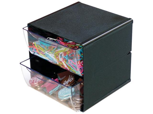 Deflecto 350104 Cube With 2 Drawers (black)