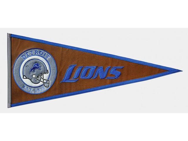 Winning Streak Sports 61710 Detroit Lions Pigskin Pennant