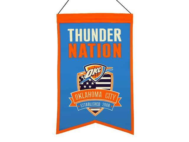 Oklahoma City Thunder Official Wool Team Nation Fan Banner by Winning Streak