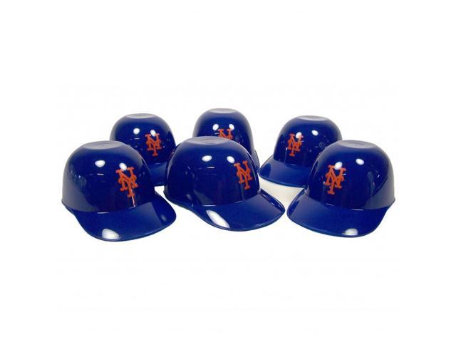 New York Mets Official MLB 8oz Mini Baseball Helmet Ice Cream Snack Bowls (6) by Rawlings