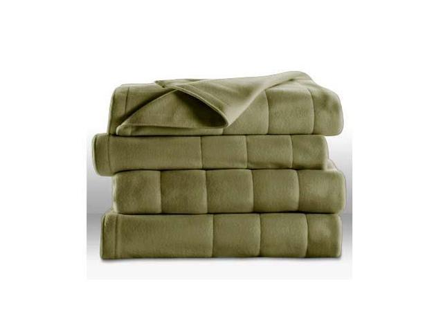 Sunbeam Heated Electric Blanket Royal Dreams Quilted Fleece (Twin ...