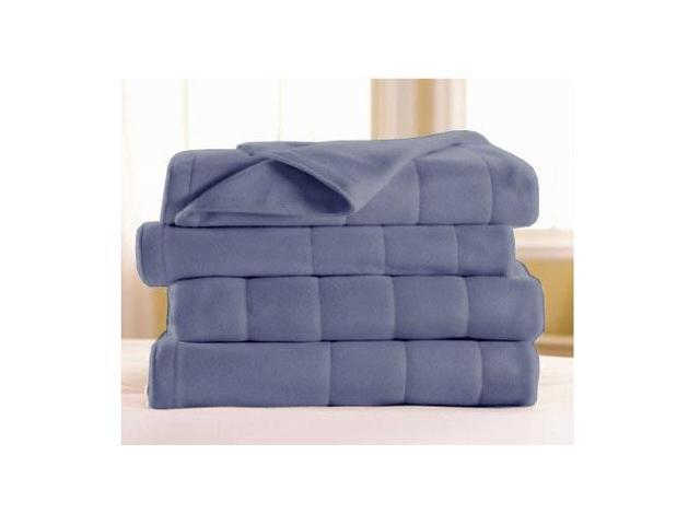 Sunbeam Full Size Quilted Fleece Electric Heated Blanket Lagoon
