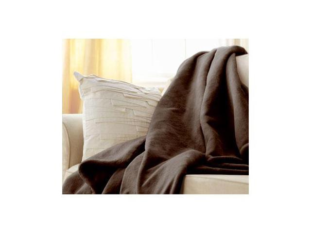 Sunbeam Microplush Electric Heated Throw Blanket in Walnut Brown