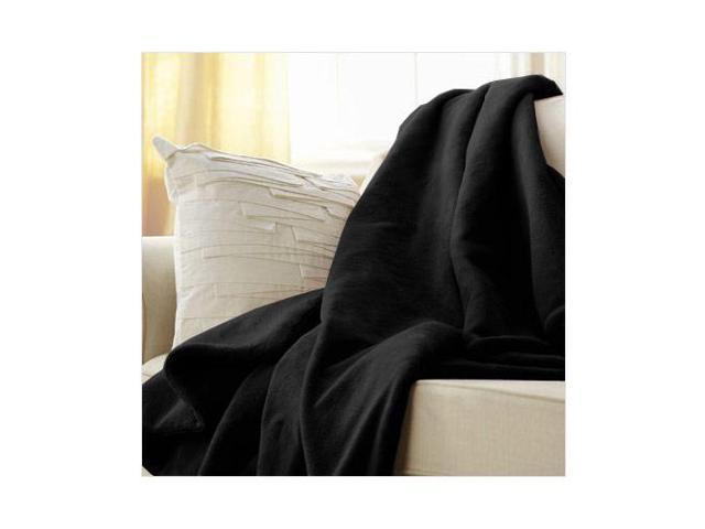 Sunbeam Microplush Electric Heated Throw Blanket in Black 3 Settings