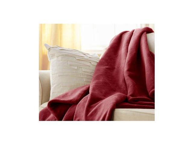Sunbeam Microplush Electric Heated Throw Blanket Ruby Red