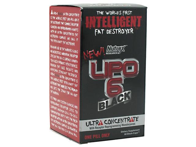 Lipo 6 Black Ultra Concentrate, 60 Black-Caps, From Nutrex