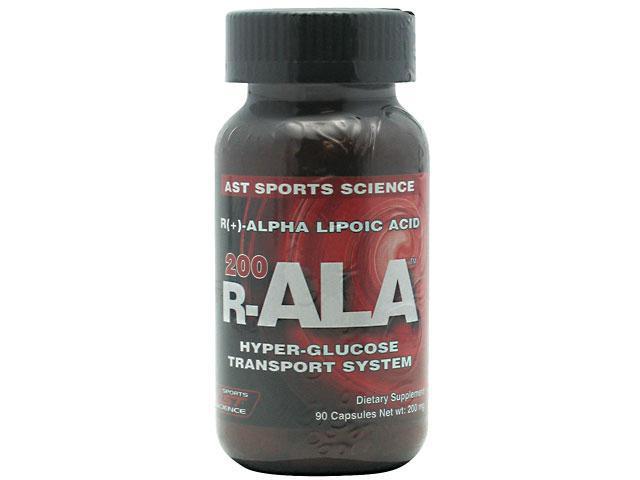 R-ALA 200, 100% Pure Alpha Lipoic Acid, 90 Capsules, 200mg, R ALA, From AST